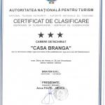 Certificat clasificare Casa Branga